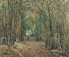 Camile Pissarro - O Bosque de Marly, 1871