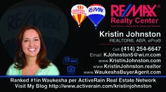 Milwaukee,WI Real Estate Market Report By Kris Johnston, Milwaukee homes, Milwaukee buyer's agent, Milwaukee listings, Kristin Johnston, Milwaukee remax