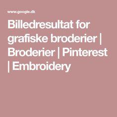 Billedresultat for grafiske broderier   Broderier   Pinterest   Embroidery