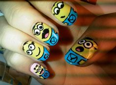 Cute-Easy-Nail-Designs-With-Basic-Color-Yellow