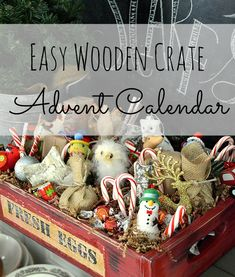 Wooden Crate Advent Calendar | Home Remedies Rx.com