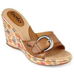 53c01e6674 Bolo® Zetta Slide Wedge Sandals - jcpenney Women's Sandals, Leather Sandals,  Leather Wedges