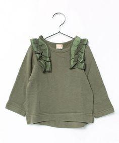 肩ボリュームフリル付き長袖トレーナー(スウェット) petit main(プティマイン)のファッション通販 - ZOZOTOWN