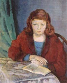 Róbert Berény (1887-1953) – Girl Reading (Anna) (1946-48) Hungarian National Gallery, Budapest