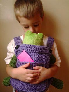 Crochet bebé muñeca portadora-Mei Tai