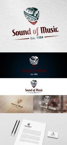 Create a classic clean logo for a music store by Sandyago38