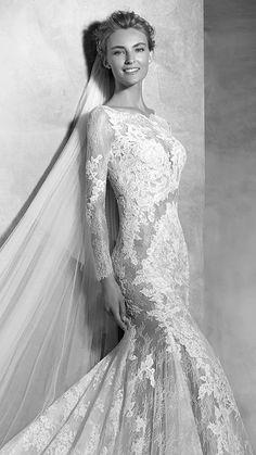 "The love of lace. Atelier Pronovias now in Michigan at Ashley & Alexandria""s bridal, metro Detroit."