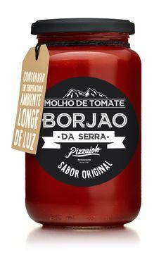 Packaging Design for Tomato Sauce Borjão da Serra by Felipe Longhini. Design de Embalagens para Molho de Tomate Borjão da Serra por Felipe Longhini. For More: www.felipelonghini.com