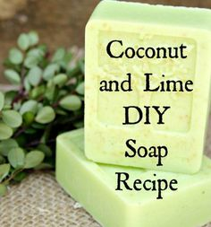 Melt and Pour Soap – Coconut and Lime This soap making recipe shows you how to make soap using Coconut milk and lime juice. This melt and pour soap method using easy to use soap base that you just add ingredients to. The soap making tu… Soap Making Recipes, Homemade Soap Recipes, Homemade Soap Bars, Homemade Facials, Making Bar Soap, Homemade Beauty, Coconut Soap, Coconut Milk, Soap Melt And Pour