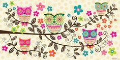 Oopsy Daisy Canvas Wall Art Branch Party by Mary Beth Freet, available at #polkadotpeacock. #peacocklove #oopsydaisyart