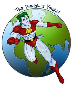 Captain planet tee on Etsy, $13.00