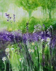 Gorgeous. Original watercolour painting 'Bluebell Woods' by lavendergeorge, £30.00
