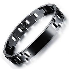 SPANISH Men Jewelry Stainless Steel Bracelet Classical Bible Cross
