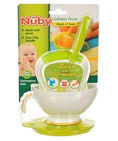 Nuby Garden Fresh Mash n' Feed - lime, one size