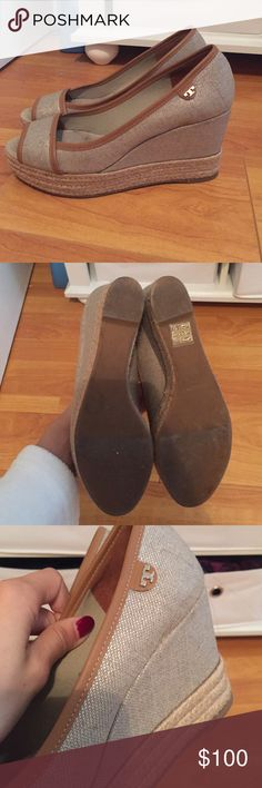 Tory burch wedges Very good condition, worn a few times . 3 inch heel. Open to offers Tory Burch Shoes Wedges