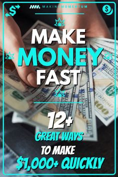 Are you looking for legit ways to make money fast and earn extra cash in your spare time? Whether you're tight on bills or just want to save more money, there are some easy ways to earn money quick from home, online or around the city. Here are 14+ great ways to help you make $1,000 quickly! #makemoney #makemoneyonline #makemoneyfromhome #DIYjobs #sidehustle #personalfinance