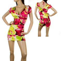 Floral color burst bodyfit bodycon sexyback dress found by Fashionista Style Boutique - $42