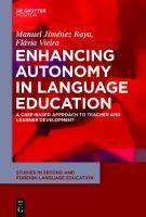 Enhancing autonomy in language education : a case-based approach to teacher and learner development.  http://katalogoa.mondragon.edu/janium-bin/janium_login_opac.pl?find&ficha_no=109534