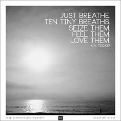 Just breathe. Ten tiny breaths.  - Inspirational Quotograph by Israel Smith. #inspiration #quotes  http://israelsmith.com/iq/just-breathe-ten-tiny-breaths/