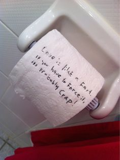 """""""Why the fuck are you wasting toilet paper?"""" Thats what the other pinner wrote... LOL!"""