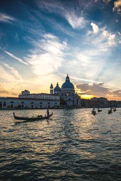 Sunset over Basilica Santa Maria della Salute