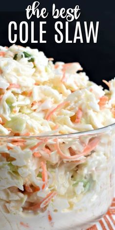 If you're looking to make the very best coleslaw recipe, this copycat Chick-fil-A Cole Slaw is made for you! Creamy and delicious, it's the perfect potluck recipe. Side Dish Recipes, Dinner Recipes, Cabbage Recipes, Chicken Recipes, Cooking Recipes, Healthy Recipes, Restaurant Recipes, Soup And Salad, Pasta Salad