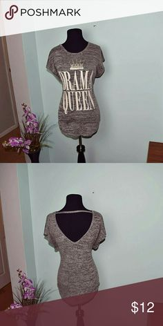 Super Cute Drama Queen Graphic Top In excellent condition. Super cute and comfortable. Tops Blouses