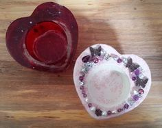 New candle holder next to old one - shabby chic, vintage, jewellery, broken jewellery