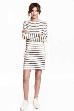 98a16364ab7 Jersey dress - White Striped - Ladies
