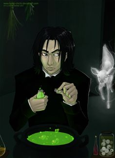Severus has always scared me. I know he's misunderstood but he could do me a favor and be a little less creepy