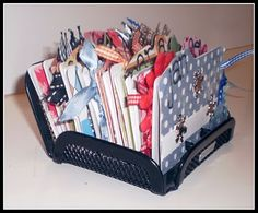 This is a Rolodex birthday calendar. But I was thinking of making a photo album out of an old Rolodex.