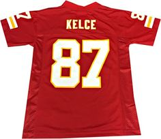 Travis Kelce #87 Kansas City Chiefs Red Home Replica Jersey Youth - http://footballjerseys.nationalsales.com/travis-kelce-87-kansas-city-chiefs-red-home-replica-jersey-youth/