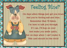 Cheer up a friend having a hard time with this quirky card that's sure to bring a smile to their face. Free online For A Friend Feeling Blue ecards on Friendship Feeling Sad, Feeling Special, Friendship Words, Miss You Cards, Make Smile, Cute Panda, Friends Day, Cheer Up, Name Cards