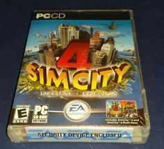 SimCity 4 Deluxe Edition - PC New Sealed in factory plastic wrap (C1B2).. #ElectronicArts