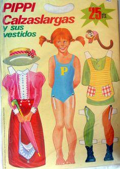 TODORECORTABLES SUEÑOS DE PAPEL: RECORTABLES PIPI CALZASLARGAS Y PIPI PARA COLOREAR