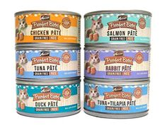 Merrick Purrfect Bistro Pate Canned Cat Food Variety Pack  6 Flavors Chicken Duck Tuna Salmon Rabbit and Tuna  Tilapia  3 Ounces Each 12 Total Cans >>> To view further for this item, visit the image link.
