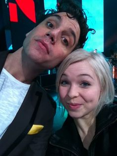 Mika and a girl on Star Academie 2012