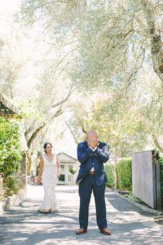 Groom's Attire: J.Crew - http://www.stylemepretty.com/portfolio/jcrew Photography: Margaret Austin Photography - margaretaustinphoto.com   Read More on SMP: http://www.stylemepretty.com/california-weddings/2016/02/20/rustic-blush-and-blue-wine-country-wedding/