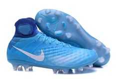 new arrival 139f0 d762f Cheap Nike Magista Obra II FG Soccer Shoes Blue White on  www.newsoccercleats.com