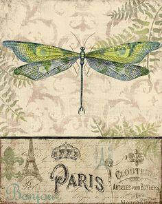 Vintage Wings-paris-g Painting by Jean Plout
