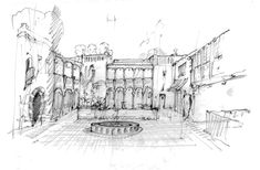 El Andaluz Sketch by Jeff Shelton Architect