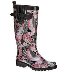 Holy Rain Boots! I'd love to go sloshing through puddles in THESE bad boys!