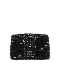 Bolso con solapa en tweed - CHANEL