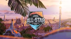 All-star is one of lol championship and it takes place every year in different cities. The background with beautiful scenery shows all-star held in Barcelona in League Of Legends Poster, Barcelona 2016, Esports, Tandem, All Star, Lol, Fire, Beautiful Scenery, Stars