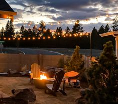 Bring your backyard to life with IYN Stands. A bright addition to any event, outdoor space, or camping trip. Simple Garden Designs, Small Garden Design, Fire Pit Lighting, Cottage Garden Design, Indoor String Lights, Peaceful Places, Concrete Patio, Landscape Lighting, Summer Garden