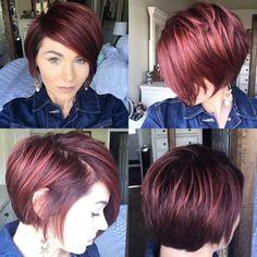 #pixie360 #redhair #redviolet #shorthair #bob #shortbob
