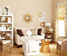 Try a luxe neutral color scheme in your living room! More pictures here: http://www.bhg.com/rooms/living-room/makeovers/living-room-makeovers/?socsrc=bhgpin082414goodbones&page=9