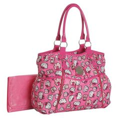 I kind of want this Printed Hello Kitty Diaper Bag even though I will not be needing it even if it does become a hand-me-down...I wonder if the compartments are all very 'baby' specific of if they can be used as something else.