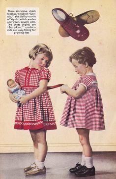 1940s Children's Utility dresses