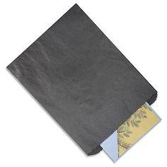 50 8 1/2 x 11 Black Paper Treat Bags / by creativeDIYsupplies, $10.00